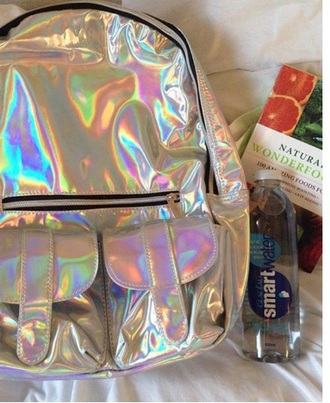 bag tumblr holographic holographic bag backpack