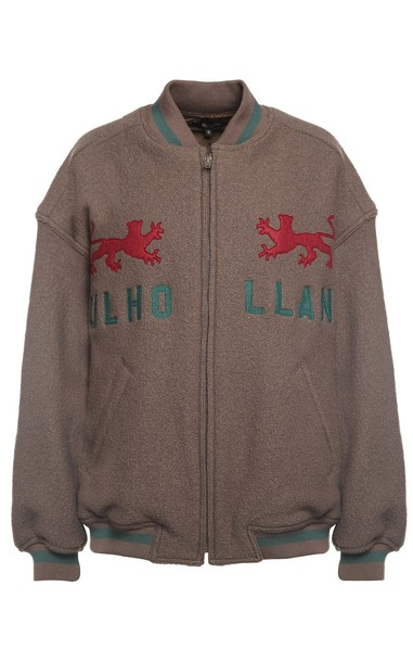 jacket bomber jacket wool