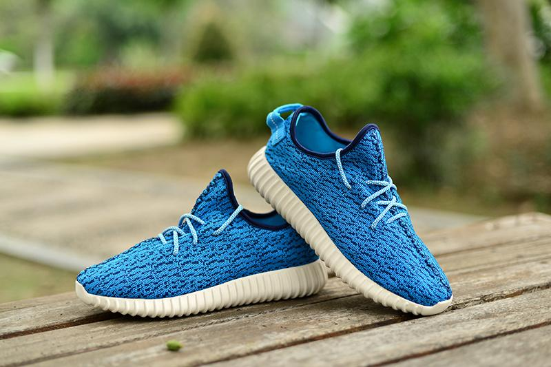 super popular 9d0e4 7d29b 2015 New sky blue Low Yeezy Boost 350 Running Shoes Top Quality Fashion Men  and Women ...