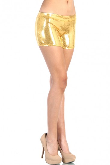 LoveMelrose.com From Harry & Molly | Gold Sequin Short