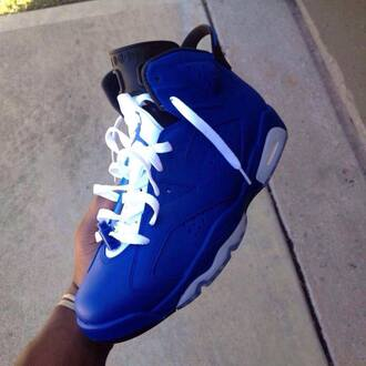 earphones gloves custom jordans sneakers blue jordan 5's white shoe lace black and blue royal blue shoes gradeschool size retros kicks retro6 air jordan