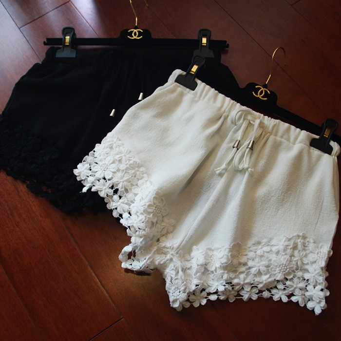 """celine"" flower lace draw string shorts · ebony lace fashion boutique · online store powered by storenvy"