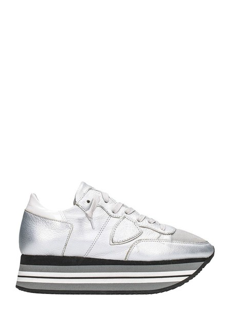 Philippe Model sneakers lace silver shoes