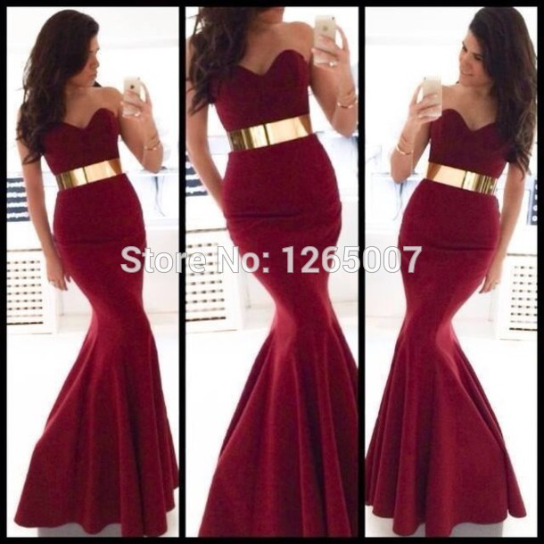 Aliexpress.com : Buy Elegant Sweetheart Mermaid Court Train Red Wine Velvet Simple Long Evening Dresses New Fashion Special Occasion Dress from Reliable wine opener suppliers on SFBridal