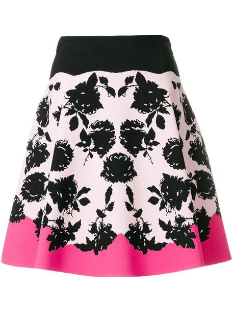 Alexander Mcqueen skirt mini skirt mini women spandex floral print purple pink