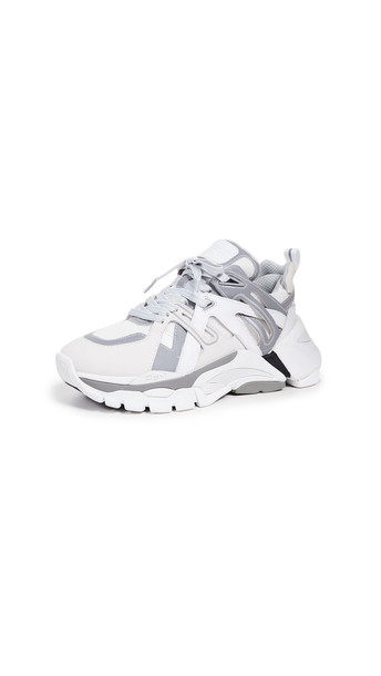 Ash Flash Sneakers in silver / white