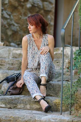 estelle blog mode blogger jumpsuit paisley