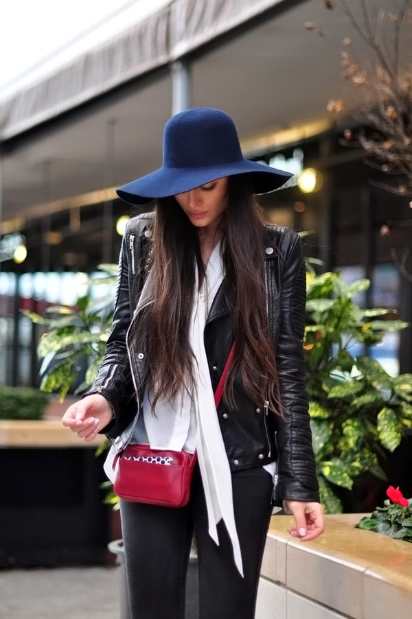 intrigue me now... hat blouse jacket jeans bag