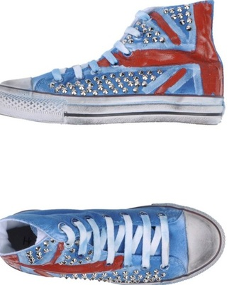 converse chuck taylor all stars union jack british studs punk