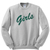 Girls green letters friend tv show Sweatshirt