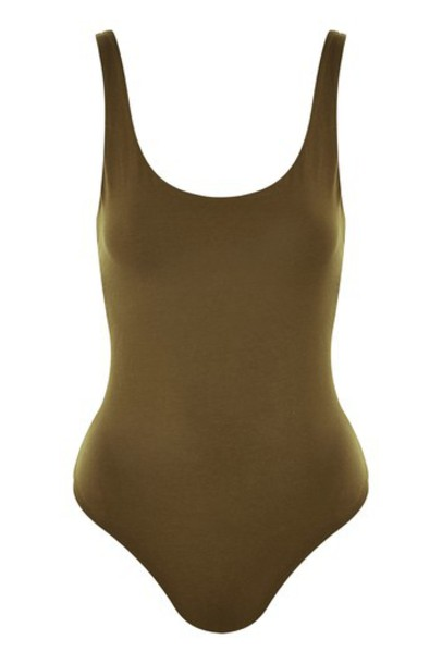 Topshop body back khaki underwear