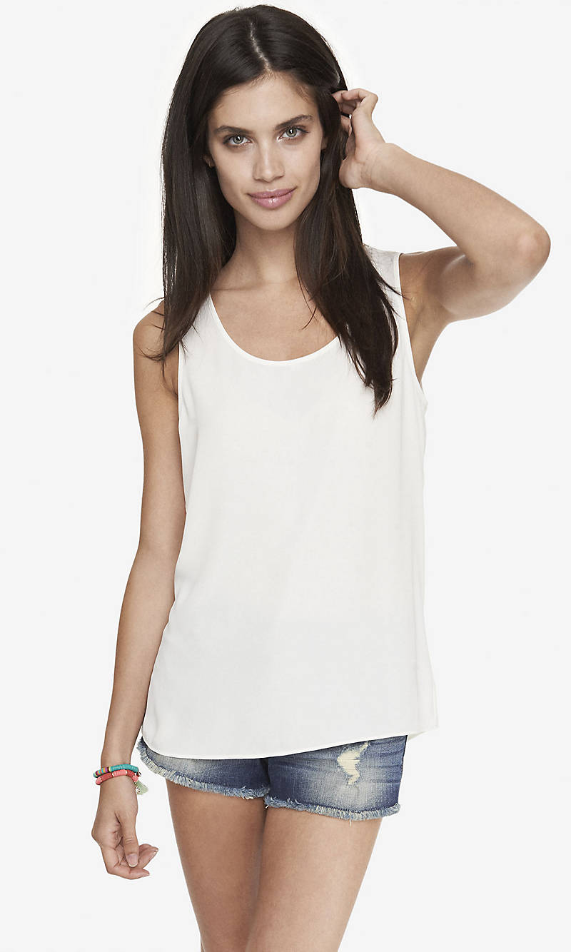 SPLIT BACK TANK from EXPRESS