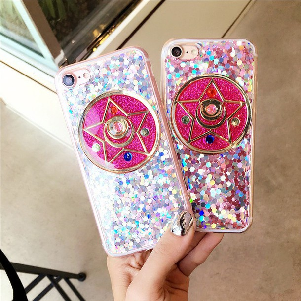 phone cover sailor moon iphone case iphone cover glitter glitter phone cover glitter case iphone 7 case iphone 7 plus case iphnoe 6 case iphone 6 plus iphone 6 plus casses kawaii fairy kei pink pastel mirror dejavucat designer iphone 7 cases