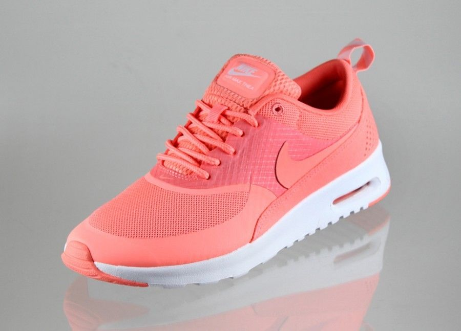 women nike air max thea atomic pink white cheetah leopard. Black Bedroom Furniture Sets. Home Design Ideas