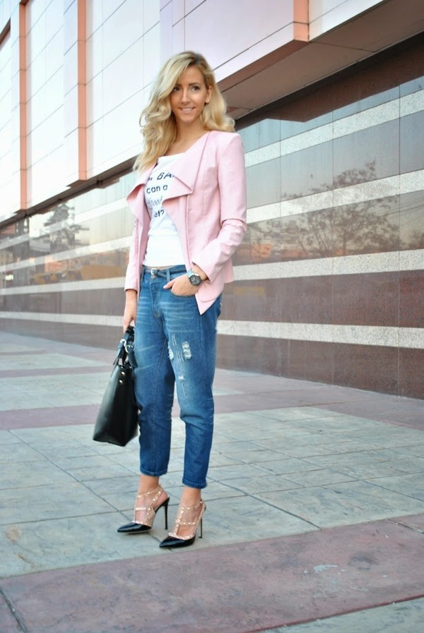 let's talk about fashion ! jeans jacket t-shirt bag shoes