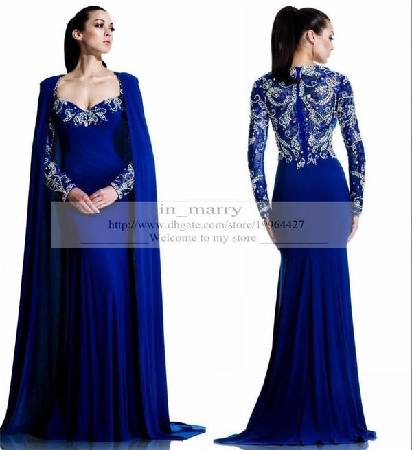 Royal blue evening dress plus size