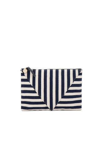 patchwork clutch navy bag