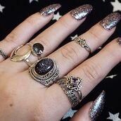 jewels,druzy dreams,jewelry,boho,bohemian,silver,sterlingsilver,ring,druzydreams