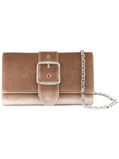 CASADEI women clutch leather nude suede velvet bag