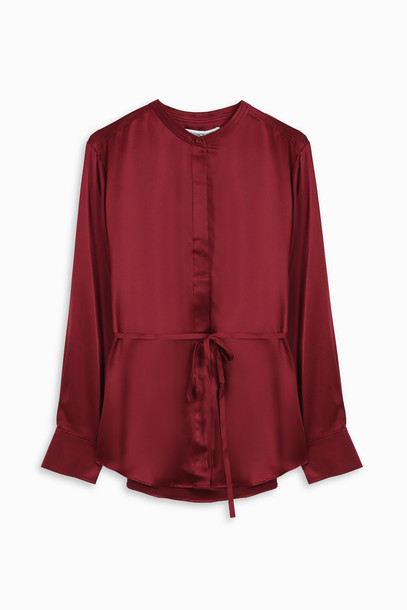 Elizabeth and James shirt women silk red top