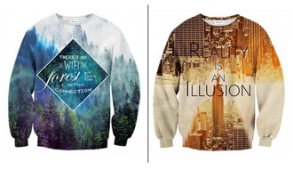 sweater printed sweater quote on it
