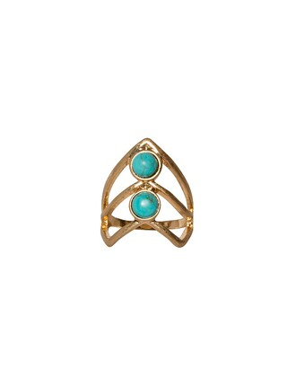 jewels gold ring knuckle ring turquoise ring knuckle ring affordable jewelry cute jewelry pixie market pixie market girl