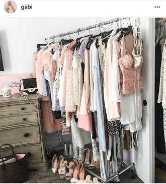blouse gabi demartino gabriella demartino pastel pastel pink neutral shirt shirt dress heels pumps bralette bra top skirt shorts dress girly