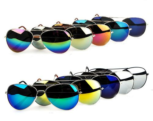 Men and women retro sunglasses influx of people of color reflective mirror sunglasses yurt - DualShine