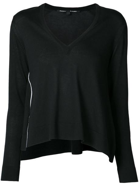 Proenza Schouler sweater women cotton black silk