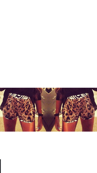 shorts sebra print lepoard print