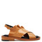 Blou ruffle-trimmed leather sandals