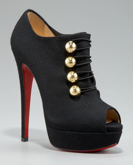 Christian Louboutin Button Flannel Bootie [san21dal2951] - $239.10 : Christian Louboutin shoes, Cheap Louboutin shoes
