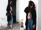 oh my blog,blogger,blouse,mom jeans,coat,jeans,shoes,sunglasses,bag,jewels