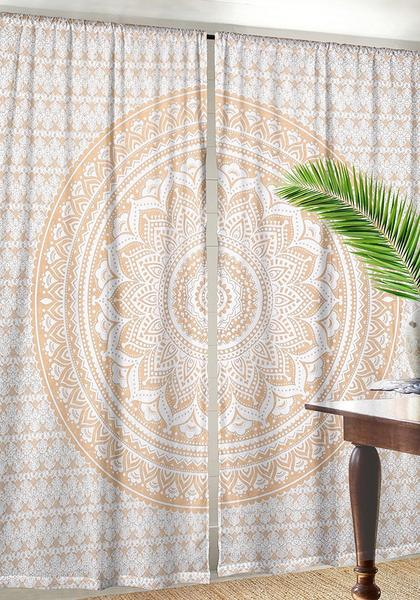 Cotton Indian Curtains Mandala Window Curtain Indian Tapestry Drapes For  Dorm Room