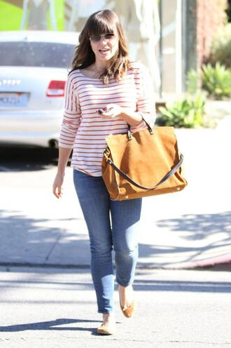 bag sophia bush one tree hill jeans sailor shirt ballerina shoes