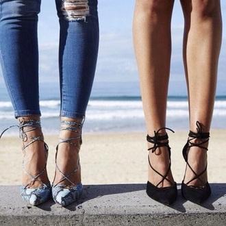 shoes black snake skin
