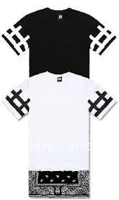 Black alley dreams — extended bandana shirt
