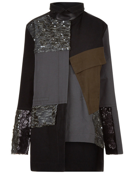 jacket camo jacket patchwork cotton grey