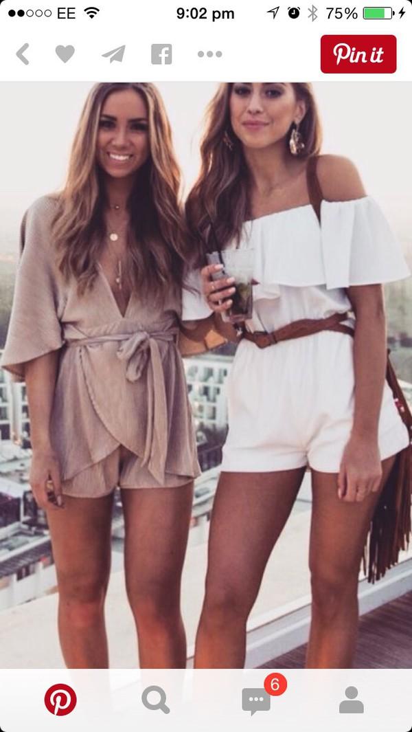 jumpsuit jumpsuit beige find tanned romper romper brown dress