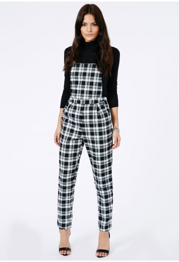 Kayah Tartan Dungarees - Jumpsuits & Playsuits - Dungarees - Missguided