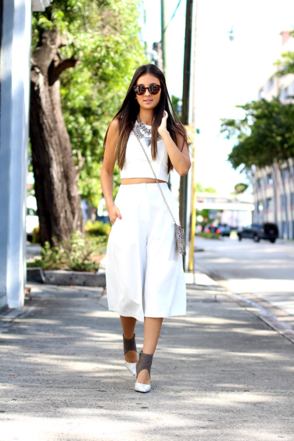 the material girl blogger top shoes bag sunglasses