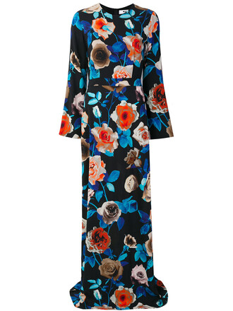 dress maxi dress floral maxi dress maxi women spandex floral black
