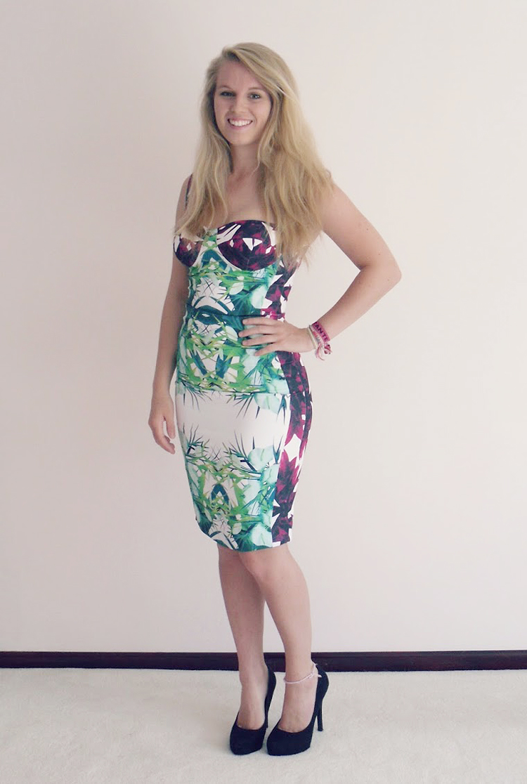 Multicolor Flower Strap Sexy Bandage Dress H666$109