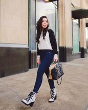 hautepinkpretty,blogger,sweater,shoes,jewels,bag