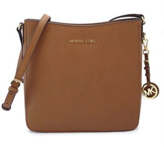 bag micheal kors tan bag shoulder bag bags purses tote bag leather bag tan micheal kors bag