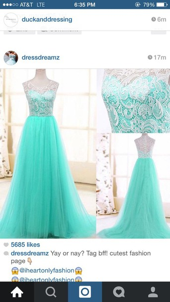 dress prom dress turquoise dress