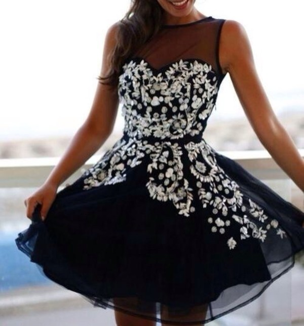 dress little black dress black prom dress silver silver glitter cute girly