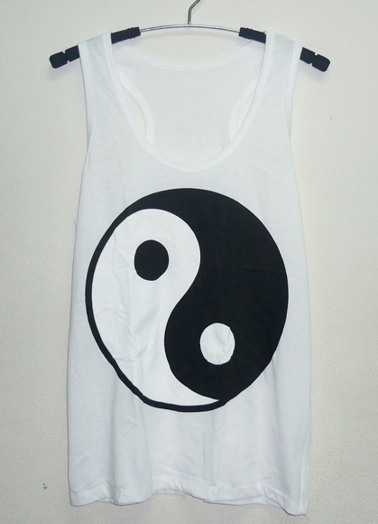 tank top white shirt yin yang shirt ying yang tank top men tshirt women tshirt