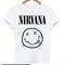 Nirvana smile logo t-shirt