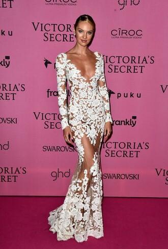 celebrity style candice swanepoel white dress lace dress victoria's secret model